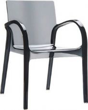 Thermo Plastic Dejavue Stacking Armchair - Black